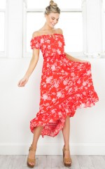 Salsa Salsa maxi dress in red floral