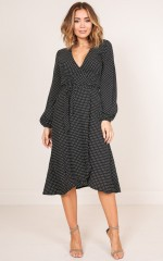 I Would Know maxi dress in black polka dot