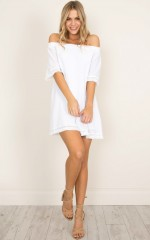 Ibiza Queen dress in white