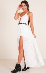 In The Middle Of The Night Playsuit in White