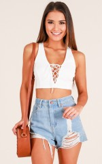 Influencer Top in White