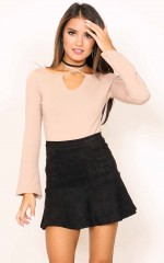 Know The Night Skirt in black