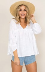 Walking On Sunshine top in white