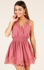 Like Poison playsuit in dark rose