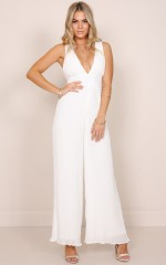 Look Into The Sun jumpsuit in white