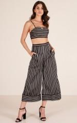 Love Lust two piece set in black stripe