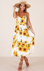 Love Story dress in white floral