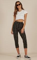 Love To Burn pants in black check