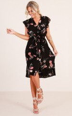 Loyal And Royal dress in black floral