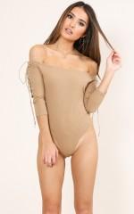 Madly bodysuit in camel