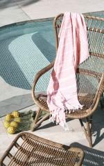Majorca beach towel in peach