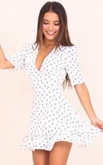 Maribelle dress in white print