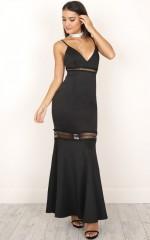 Meet Me At Midnight dress in black