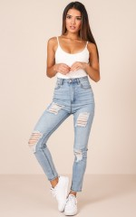 Milla Jeans in Mid Wash Denim