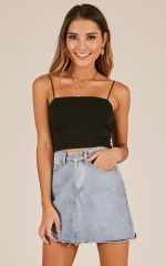 Modern Gal top in black