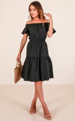 New flame dress in black
