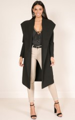 New Yorks Calling coat in black