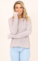Nights With You knit in beige