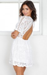 No Ordinary Love dress in white lace