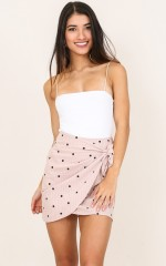Nobody Knows skirt in pink polka dot