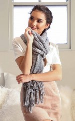 Not Just Yours scarf in grey