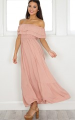 Notre Dame maxi dress in mocha