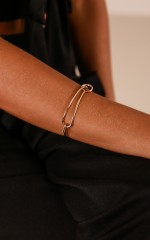 On The Line bangle in gold