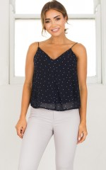 Origins Top in navy polkadot