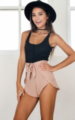 Tone It Down Shorts in beige