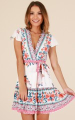 Phrase That Pays dress in white floral
