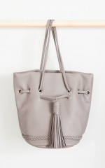 Pied Piper bag in grey leatherette