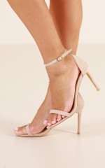 Billini - Pippa Heels in blush suede
