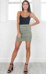 Picture Frames mini skirt in khaki