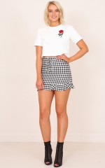 Pixie skirt in black and white