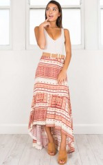The Crossroads Skirt in Red Print