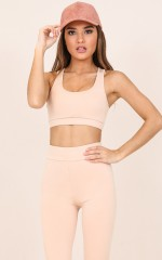 Push Through Crop Top in Nude