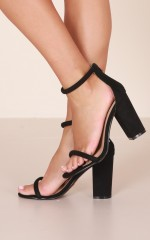 Billini - Quatro Heels in black micro