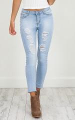 Rachel skinny jeans in mid wash