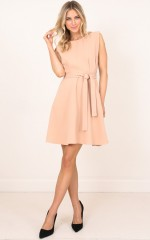 Risk Taker Dress in Beige