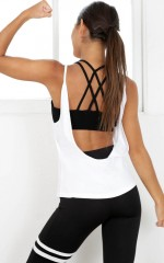 Run With The Sun 2 in 1 Top in White
