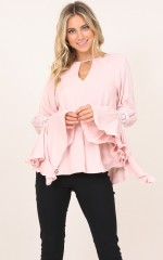 Rush Hour top in blush