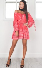 Same Mistake Dress in red print