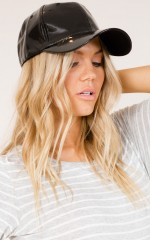 Santa Monica cap in Black