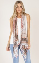 Save Your Heart Scarf in multi