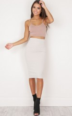 Second Skin Skirt in Beige
