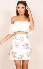 Shes Like The Wind skirt in white floral