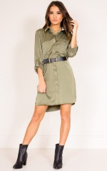 Show Me Yours shirt dress in khaki