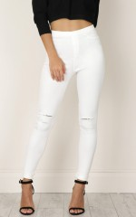 So Far Jeggings in white