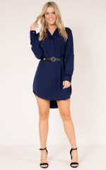 So Frenchy shirt dress in ink blue
