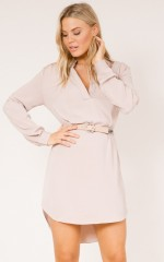 So Frenchy shirt dress in mocha